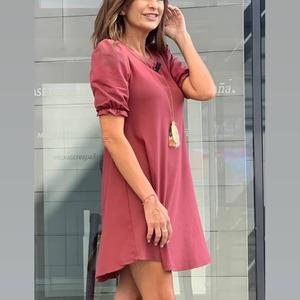 ¡Guapísima! Así de bonita está Gema López con el vestido Valeria. 🌸 Uno de nuestros básicos y a su vez elegantes de esta temporada.  Ademas... también está disponible en verde! 💚   #alaiajorgejuan #alaiamoda #modamujer #modaboho #bohostyle #vestidocorto #vestidobasico #modaonline
